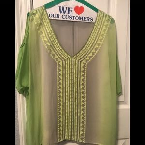 💚sheer tunic top💚 L
